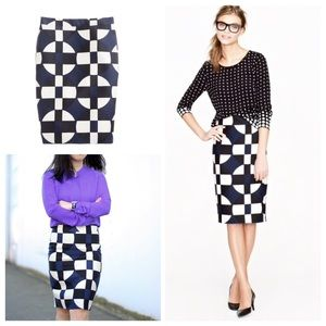 J. Crew geometric pencil skirt